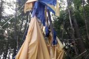 Heißluftballon im Wald abgestürtzt