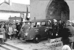Segnung des Kommandofahrzeuges am 14. August 1966