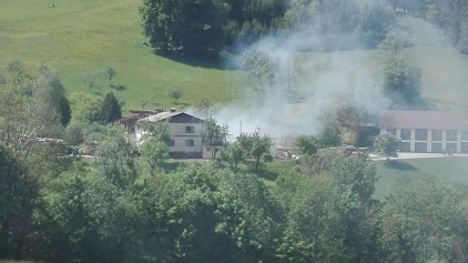 Großbrand in Windhag/St.Georgen